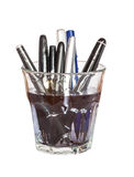 Cleaning dirty fauntain pen Stock Images