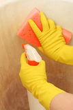 Cleaning dirty surface Royalty Free Stock Photography
