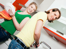 Cleaning the dishes Stock Photography