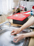 Cleaning Dishes Royalty Free Stock Image