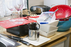 Cleaning Dishes Royalty Free Stock Photo