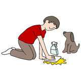 Cleaning Dog Mess Stock Image