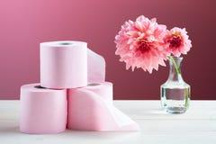cleaning domowi higieny papieru produkty toaletowi Fotografia Stock