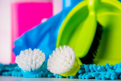 Cleaning, domycie, żywi kolory Fotografia Royalty Free