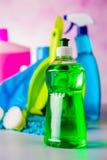 Cleaning, domycie, żywi kolory Obrazy Royalty Free