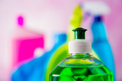 Cleaning, domycie, żywi kolory Zdjęcia Royalty Free