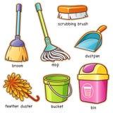 Cleaning dostawca royalty ilustracja