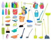 Cleaning dostawy odizolowywać na biały tle Zdjęcia Stock