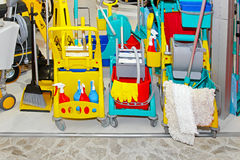Cleaning equipment Royalty Free Stock Photos