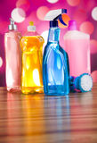 Cleaning Equipment, home work colorful theme Royalty Free Stock Photo