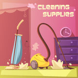 Cleaning Equipment Illustration Royalty Free Stock Image