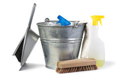 Cleaning equipment isolated Stock Photography