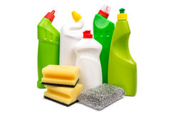Cleaning equipment isolated on white background Royalty Free Stock Images
