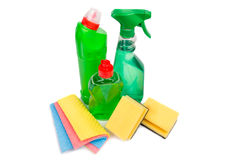 Cleaning equipment isolated on white background Stock Photography