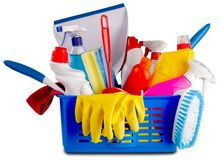 Cleaning. Equipment Maid Bucket Business Duster Room Service stock images