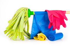 Cleaning equipment Royalty Free Stock Images