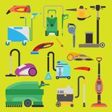 Cleaning equipment vector set. Stock Image