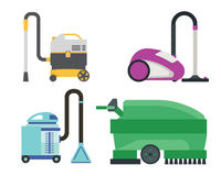 Cleaning equipment vector set. Royalty Free Stock Photography