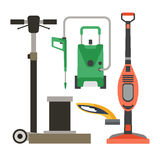 Cleaning equipment vector set. Stock Photo