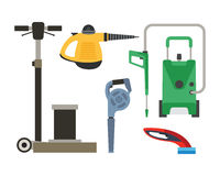 Cleaning equipment vector set. Stock Photography