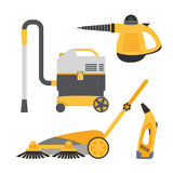 Cleaning equipment vector set. Royalty Free Stock Images