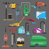Cleaning equipment vector set. Stock Images