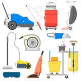 Cleaning equipment vector set. Professional cleaning equipment isolated on white background. Vector cleaning equipment tool and service cleaning equipment Royalty Free Stock Image