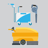 Cleaning equipment vector set. Royalty Free Stock Image