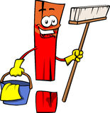 Cleaning exclamation mark Stock Images