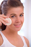 Cleaning face Stock Photos