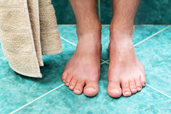 Cleaning feet Stock Photo
