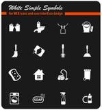 Cleaning firmy ikony set zdjęcia stock