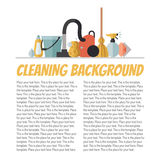 Cleaning flat multicolored vector background with place for your text. Minimalistic design. Stock Images