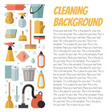 Cleaning flat multicolored vertical vector background with place for your text. Minimalistic design. Royalty Free Stock Photography
