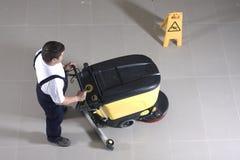 Cleaning floor stock photos