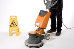 Cleaning floor with big machine at Stock Images