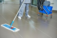 Cleaning floor Royalty Free Stock Image