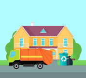 Cleaning Garbage From the City Streets Vector. Stock Photo