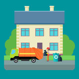 Cleaning Garbage From the City Streets Vector. Stock Images