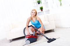 Cleaning girl Stock Photos