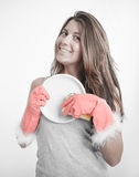 Cleaning glamour Stock Photography