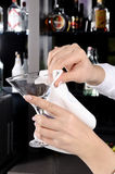 Cleaning glass Royalty Free Stock Photo