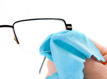 Cleaning glasses Stock Image