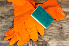 Cleaning glove Royalty Free Stock Photo