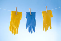 Cleaning Gloves Stock Photography