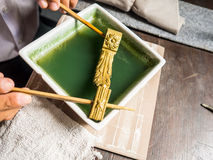 Cleaning gold workshop. Royalty Free Stock Images