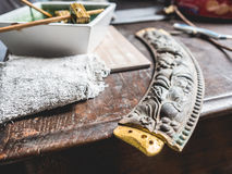 Cleaning gold workshop. Stock Images