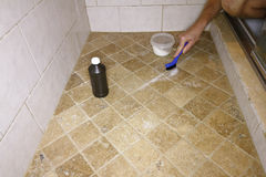 Free Cleaning Grout With Natural Ingredients Royalty Free Stock Photography - 89157797