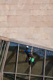Cleaning the Guggenheim, Bilbao Stock Photography