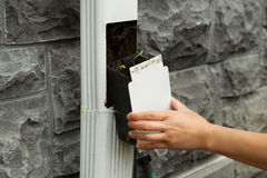 Cleaning Gutter Drain Filter Royalty Free Stock Photo